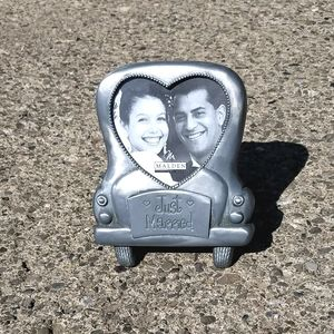 Wedding Car Heart Picture Frame